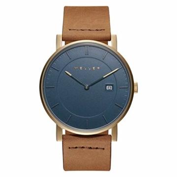 Meller Unisex Erwachsene Analog Quarz Uhr mit Leder Armband 1O-1CAMEL - 3