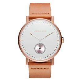 Meller Unisex Erwachsene Analog Quarz Uhr mit Leder Armband 2R-1CAMEL - 1