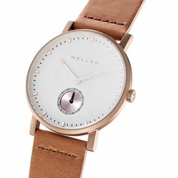 Meller Unisex Erwachsene Analog Quarz Uhr mit Leder Armband 2R-1CAMEL - 2