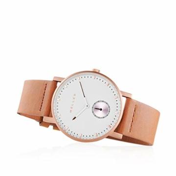 Meller Unisex Erwachsene Analog Quarz Uhr mit Leder Armband 2R-1CAMEL - 3