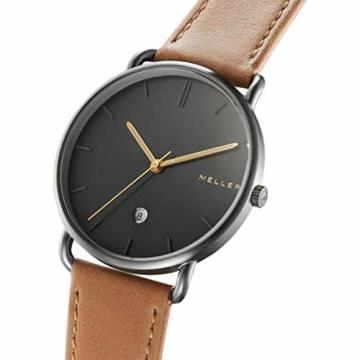 Meller Unisex Erwachsene Analog Quarz Uhr mit Leder Armband 3G-1CAMEL - 2