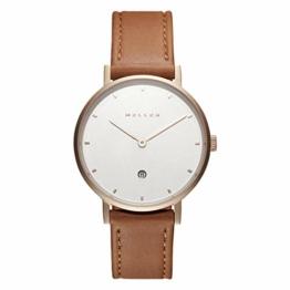 Meller Unisex Erwachsene Analog Quarz Uhr mit Leder Armband W1R-1CAMEL - 1