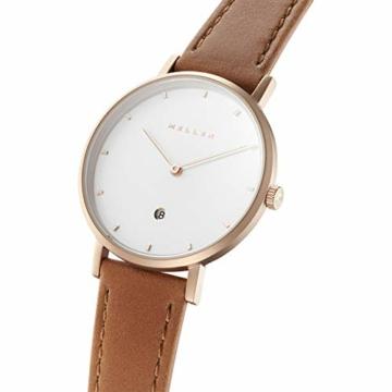 Meller Unisex Erwachsene Analog Quarz Uhr mit Leder Armband W1R-1CAMEL - 2
