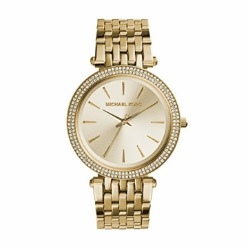 Michael Kors Damen Analog Quarz Uhr mit Edelstahl Armband MK3191 - 1