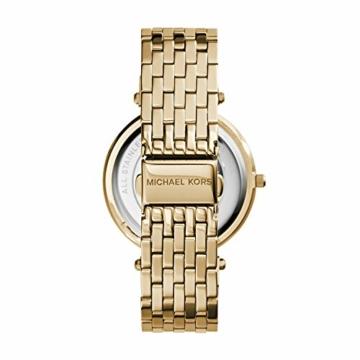 Michael Kors Damen Analog Quarz Uhr mit Edelstahl Armband MK3191 - 2