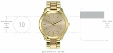 Michael Kors Damen Analog Quarz Uhr mit Edelstahl Armband MK3493 - 4