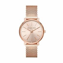 Michael Kors Damen Analog Quarz Uhr mit Edelstahl Armband MK4340 - 1