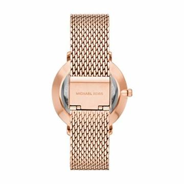Michael Kors Damen Analog Quarz Uhr mit Edelstahl Armband MK4340 - 2