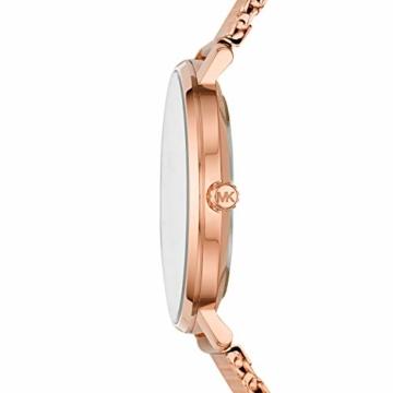 Michael Kors Damen Analog Quarz Uhr mit Edelstahl Armband MK4340 - 3