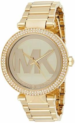 Michael Kors Damen Analog Quarz Uhr mit Edelstahl Armband MK5784 - 1