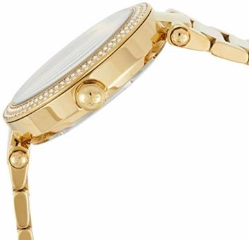 Michael Kors Damen Analog Quarz Uhr mit Edelstahl Armband MK5784 - 3