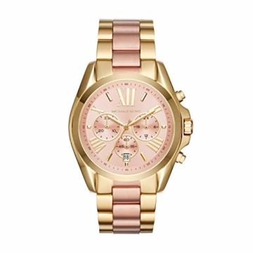 Michael Kors Damen Chronograph Quarz Uhr mit Edelstahl Armband MK6359 - 1