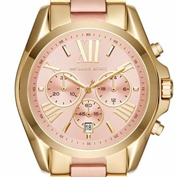 Michael Kors Damen Chronograph Quarz Uhr mit Edelstahl Armband MK6359 - 3