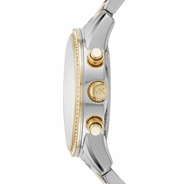 Michael Kors Damen Chronograph Quarz Uhr mit Edelstahl Armband MK6474 - 2