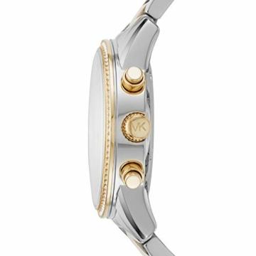 Michael Kors Damen Chronograph Quarz Uhr mit Edelstahl Armband MK6474 - 3