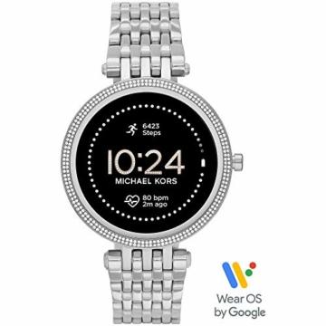 Michael Kors Damen Gen 5E Darci Touchscreen Smartwatch mit Lautsprecher, Herzfrequenz, GPS, NFC und Smartphone Benachrichtigungen - 1