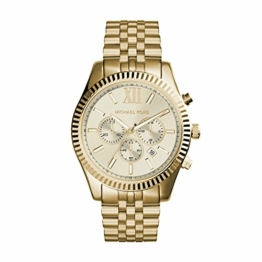 Michael Kors Herren Chronograph Quarz Uhr mit Edelstahl Armband MK8281 - 1