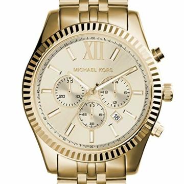 Michael Kors Herren Chronograph Quarz Uhr mit Edelstahl Armband MK8281 - 4