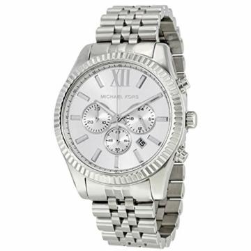 Michael Kors Herren-Uhren Analog Quarz One Size Silber 32001926 - 4