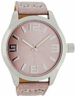 Oozoo Armbanduhr Basic Line mit Lederband 47 MM Pinkgrau/Pinkgrau C1058 - 1