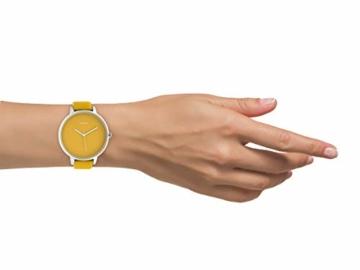 Oozoo Damenuhr mit Design Zifferblatt und Lederband 48 MM Senfgelb C10574 - 4