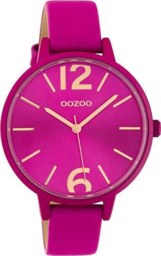 Oozoo Damenuhr mit Lederband 40 MM Colours of Oozoo Unicolor Pink C10443 - 1
