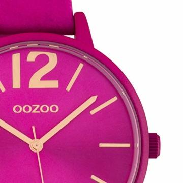 Oozoo Damenuhr mit Lederband 40 MM Colours of Oozoo Unicolor Pink C10443 - 2