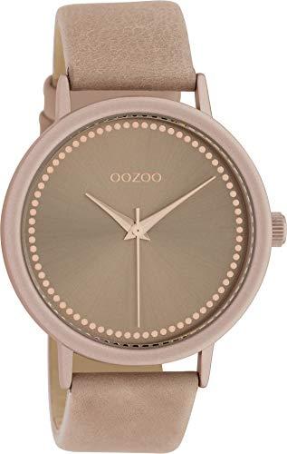 Oozoo Damenuhr mit Lederband 40 MM Pinkgrau/Pinkgrau C10425 - 1