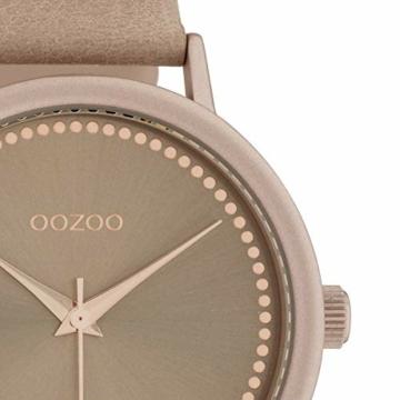 Oozoo Damenuhr mit Lederband 40 MM Pinkgrau/Pinkgrau C10425 - 2