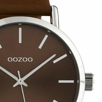 Oozoo Damenuhr mit Lederband 42 MM Colours of Oozoo Unicolor Braun C10450 - 2