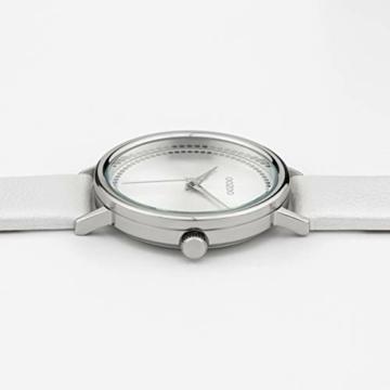 Oozoo Damenuhr mit Lederband 42 MM Silberfarben/Weiss C10149 - 2
