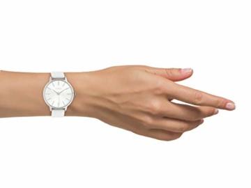 Oozoo Damenuhr mit Lederband 42 MM Silberfarben/Weiß C10610 - 4