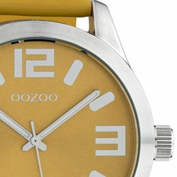 Oozoo Damenuhr mit Lederband Classic Color Line XL 47 MM Braun C10235 - 2