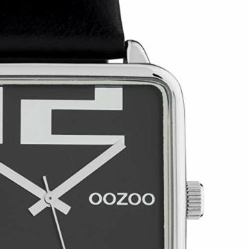 Oozoo Damenuhr Quadratisch mit Lederband 35 x 35 MM Silber/Schwarz C10364 - 2
