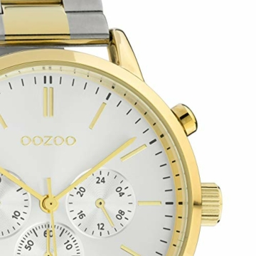 Oozoo Unisex Armbanduhr mit Edelstahl Gliederarmband 42 MM Bicolor C10547 - 2