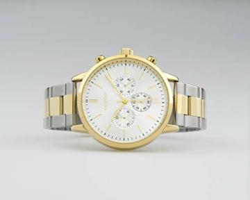 Oozoo Unisex Armbanduhr mit Edelstahl Gliederarmband 42 MM Bicolor C10547 - 3