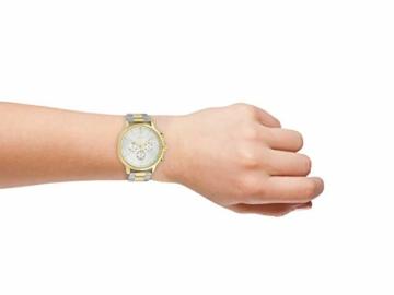 Oozoo Unisex Armbanduhr mit Edelstahl Gliederarmband 42 MM Bicolor C10547 - 4