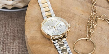 Oozoo Unisex Armbanduhr mit Edelstahl Gliederarmband 42 MM Bicolor C10547 - 5