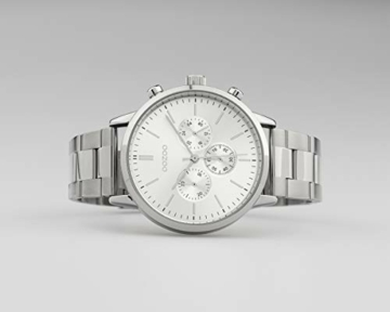 Oozoo Unisex Armbanduhr mit Edelstahl Gliederarmband 42 MM Silberfarben C10545 - 3