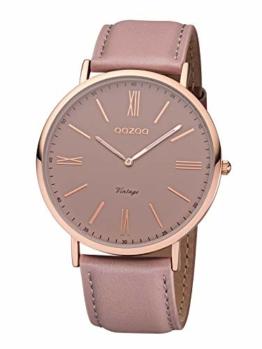 Oozoo Vintage Armbanduhr mit Lederband 44 MM Rose/Pinkgrau/Pinkgrau C7342 - 1