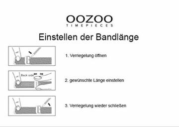 Oozoo Vintage Damenuhr Eckig Metallband 28 MM Rose/Perlmutt C9846 - 5