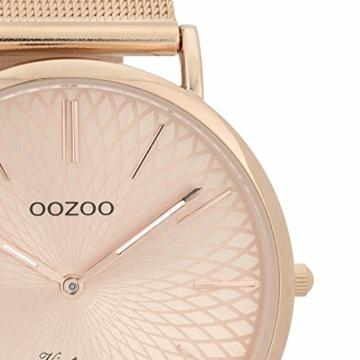 Oozoo Vintage Damenuhr Metallband 40 MM Rose/Rose/Rose C9343 - 2