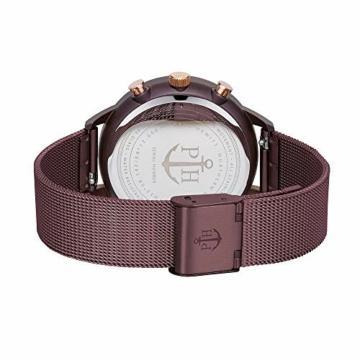 PAUL HEWITT Armbanduhr Damen Everpuls Dark Mauve Mesh - Damen Uhr in Dark Mauve mit einem abgestimmten Meshband aus Edelstahl und einem moccafarbenen Ziffernblatt - 2