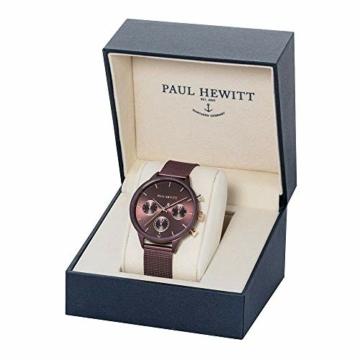 PAUL HEWITT Armbanduhr Damen Everpuls Dark Mauve Mesh - Damen Uhr in Dark Mauve mit einem abgestimmten Meshband aus Edelstahl und einem moccafarbenen Ziffernblatt - 4
