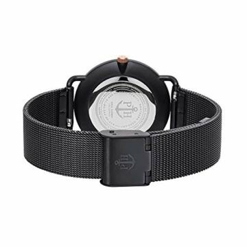 PAUL HEWITT Armbanduhr Damen Miss Ocean Black Sunray - Damen Uhr (Schwarz), Damenuhr Edelstahlarmband in Schwarz, schwarzes Ziffernblatt - 2