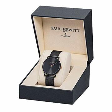 PAUL HEWITT Armbanduhr Damen Miss Ocean Black Sunray - Damen Uhr (Schwarz), Damenuhr Edelstahlarmband in Schwarz, schwarzes Ziffernblatt - 3