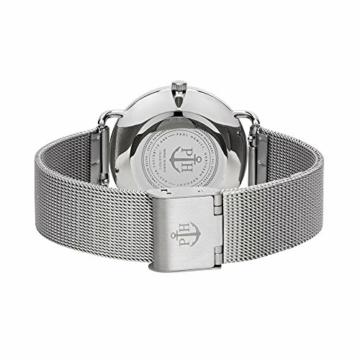 PAUL HEWITT Armbanduhr Damen Miss Ocean White Sand - Damen Uhr (Silber), Damenuhr Edelstahlarmband in Silber, weißes Ziffernblatt - 2