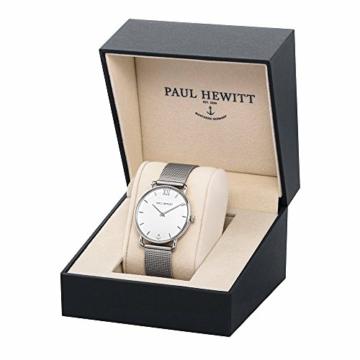 PAUL HEWITT Armbanduhr Damen Miss Ocean White Sand - Damen Uhr (Silber), Damenuhr Edelstahlarmband in Silber, weißes Ziffernblatt - 3