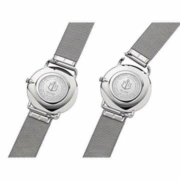 PAUL HEWITT Armbanduhr Damen Miss Ocean White Sand - Damen Uhr (Silber), Damenuhr Edelstahlarmband in Silber, weißes Ziffernblatt - 4