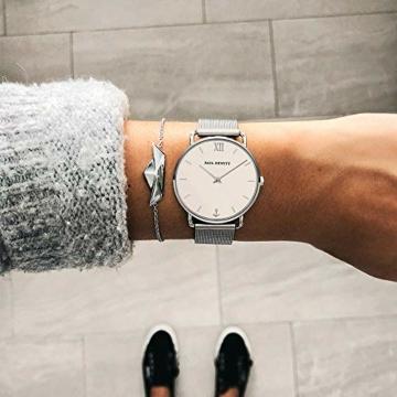 PAUL HEWITT Armbanduhr Damen Miss Ocean White Sand - Damen Uhr (Silber), Damenuhr Edelstahlarmband in Silber, weißes Ziffernblatt - 5
